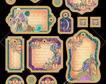"Sale-Graphic 45 ""Midnight Masquerade"" Journaling Chipboard"