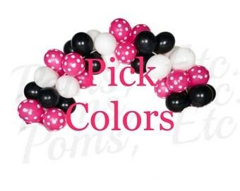 Pick colors Balloon arch kit , DIY, any theme/ latex balloons/ polka dots/ balloon kit
