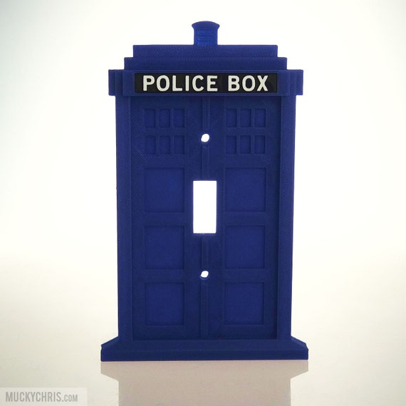 Dr who tardis light switchplate covers for Tardis light switch cover
