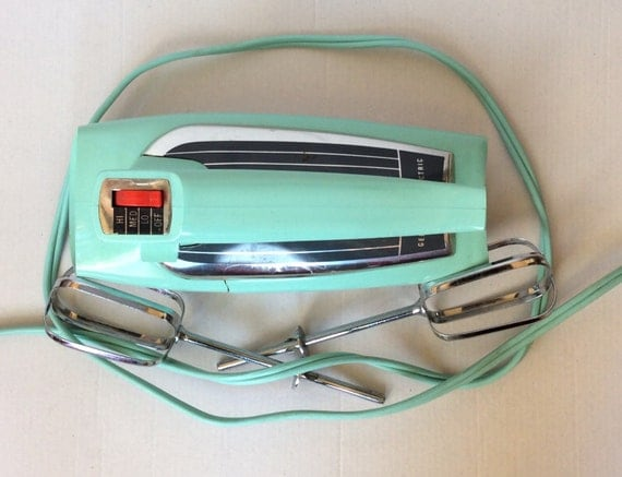 Electric Mixers Made In Usa ~ Retro turquoise mid century ge speed hand mixer m made