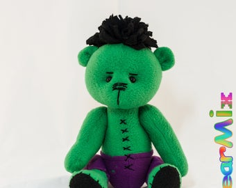 Hulk bear - marvel superhero movie comic plush toy avengers Bruce Banner