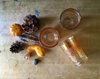 Fenton Glass, Antique Tumbler, Fenton Carnival Glass, Amber Glasse, Antique Glass,  Cut Glass Tumblers, Fenton Art Glass, Lattice and Daisy