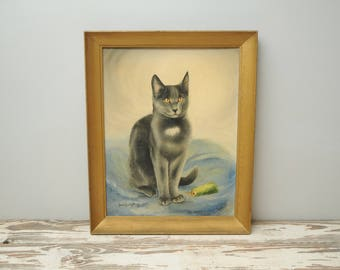 Gray Cat Painting