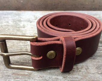 Brown leather belt, Solid brass buckle, Brown belt, Mens belt, Womens belt, Full grain, Wide belt, Skinny belt, Dress belt, Casual belt