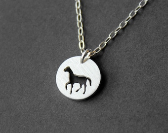 Handmade Silver Horse Necklace - Sterling Silver Necklace - Silver Jewelry - PMC - Metal Clay