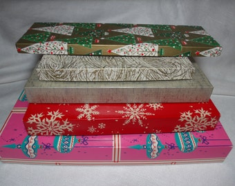 Vintage Christmas Boxes, Christmas Gift Box, Nesting Christmas Boxes