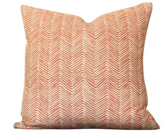 Alan Campbell Petite Zig Zag Pillow Cover in Shrimp on Tint