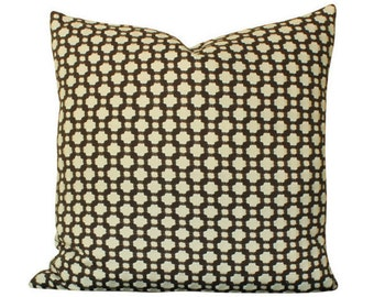 Schumacher Betwixt Pillow Cover in Brown