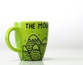 The Mountains Are Calling mug Mountain art Coffee mug mountains Coffee cup Mugs mountain Camping gift Inspirational Christmas Gift for him