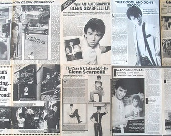 GLENN SCARPELLI ~ One Day At A Time, Jennifer Slept Here, They All Laughed, Alex Handris ~ B&W Articles from 1982-1985