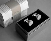 Paper cufflinks - First wedding anniversary gift for him