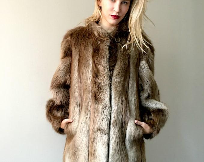Vintage Beaver Luxury Fur Coat
