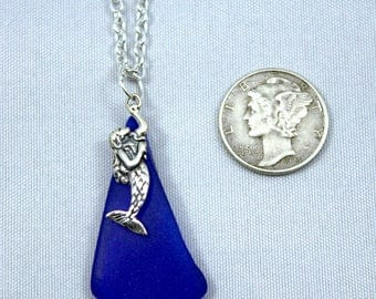 Mermaid Necklace with Tumbled Glass
