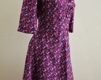 Dress /  1940's Dress, Women's clothing / Retro Dress for Women / Vintage Dress / Summer Dresses for Women / 40's Dress / V  Neck Dress