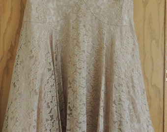 1940s to 50s Lace PARTY Dress size Medium