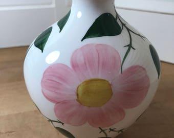 Vintage Villeroy and Boch Wild Rose Pattern Vase