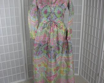 1970s Elizabeth Arden Long Dress/ Lounging Gown...... size Medium...   MINT CONDITION