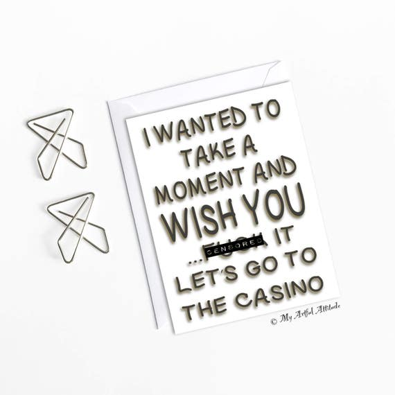 Funny Boyfriend Birthday Card, Girlfriend Casino Party Night, Gifts For Gamblers, Him Or Her By