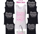 Bachelorette Party Tank Top Sets S M L XL Plus Size 1x 2x 3x 4x 5x (Order sets of 1 thru 20+) Customizing Available! Free Tote Bag included!