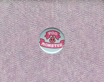 Bee and Puppycat-inspired Poo Monster 1/1.25 inch button