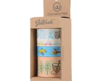 Washi Tape 4 Roll Set - Travel - Allton - 399194
