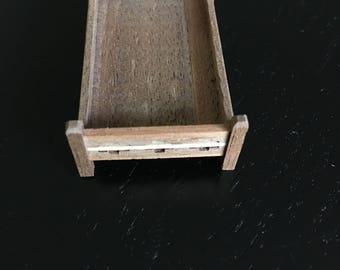 "Dollhouse Miniature  1/4"" scale Southwestern Bed (JV)"