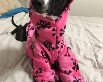Pink Skull - Minky Hoodie - 2 legs