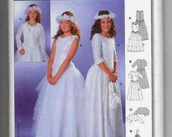 9761 Burda Communion Dresses, Bolero, and Purse Sewing Pattern Sizes 8-14 Does Not Make Headdress