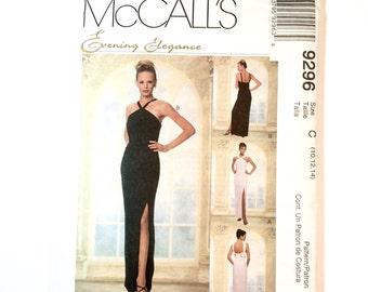 McCalls 9296, Evening Gown Pattern, Wedding Gown, Bridesmaids' Dress, Evening Elegance, Prom Dress, Size 10, 12, 14, Vintage Uncut Pattern,