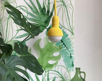Lampe, plug in pendant lamp in yellow