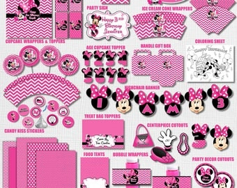 Minnie Mouse Birthday Decorations Party 1st Theme Baby