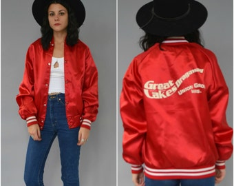 1980s Great Lakes Dragaway red bomber jacket
