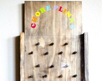Chore Chart - Chore Plinko - Kids Chore Chart - Family Chore Chart - Chore Board - Chore Chart For Kids - Chores - Plinko - Childrens Games