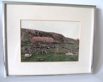Blackhouse, Photograph, Scotland, Isle of Lewis, Outer Hebrides, Pastoral, Marcus Fisher