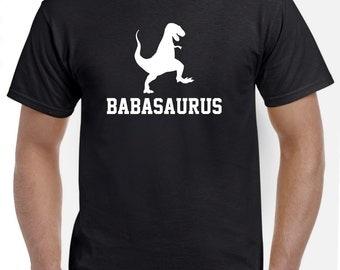 Baba Shirt-Baba Gift for New Baba-Babasaurus Tshirt Funny Gift