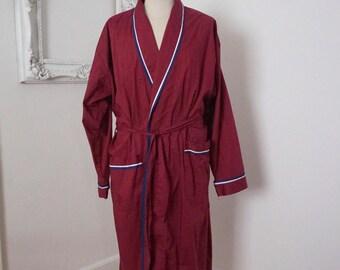 Vintage Light Weight Maroon Dark Red Robe L XL