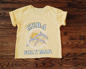 Golden Yellow Printed T Shirt