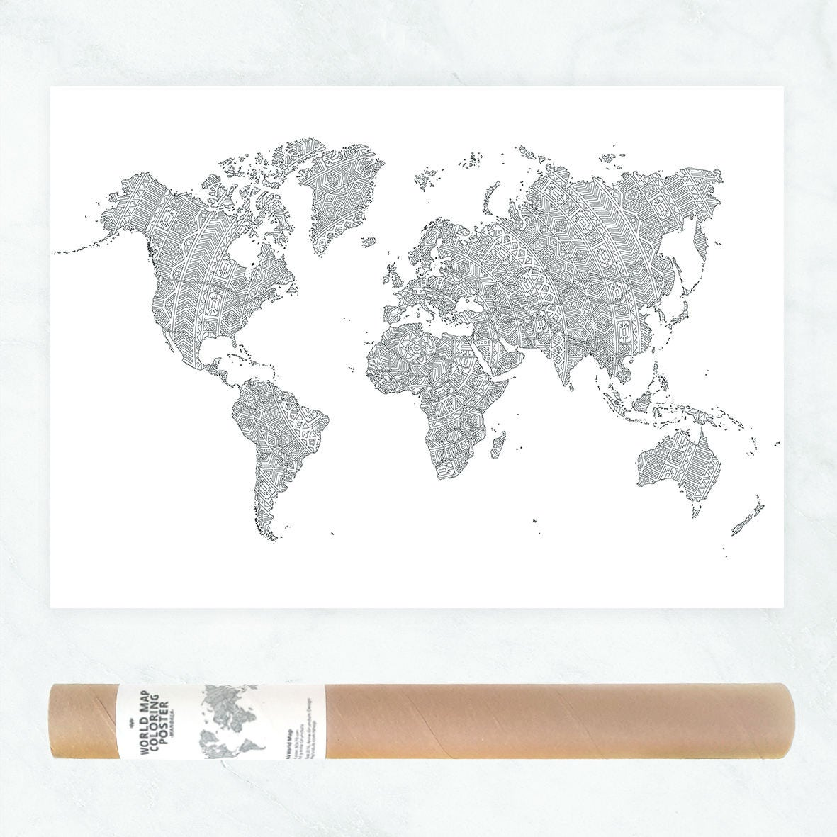 world map poster coloring travel map of the world