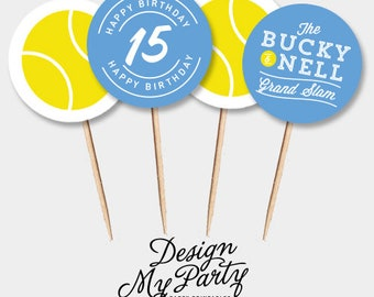 Tennis Cupcake Toppers (Personalised DIY Printables)