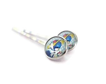 Retro Hair Pins/ Vintage Hair Pins/ Bird Hair Pins/ Retro Bobby Pins/ Cute Hair Pins/ Silver Bobby Pins/ Girl Hair Pins