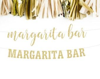 Margarita Bar Banner, Margarita Party, Margarita Wedding, Margarita Station, Bachelorette Party, Hen Party, Bridal Shower, Glitter Banner