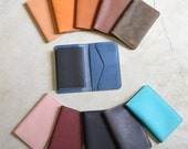 Leather Passport Holder / Travel Wallet and Passport Cover