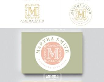 decoorative monogram  logo 5 vintage photographer initials  businesscards  modern gender nutral branding  Identity cute wedding photographer