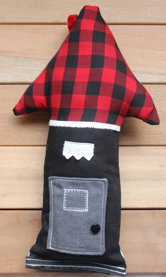 Tooth fairy pillow, treasure pillow buffalo plaid medium