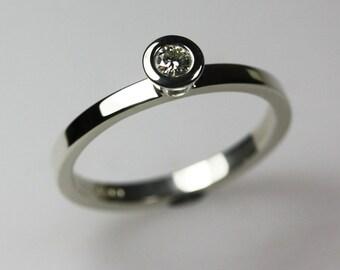 White Gold & Moissanite/Diamond  Ring