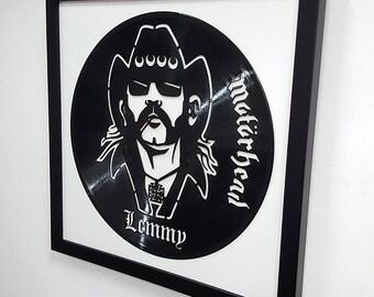 Lemmy Wall Art -Motorhead Vinyl LP Record  Framed -Great Rock'n'Roll Gift