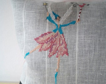 Pillow fairy cross stitch 30 x 50 cm