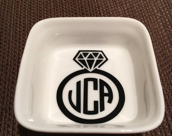 Ring Dish - Square with Monogram