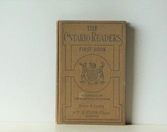 The Ontario Readers First Book - School Textbook - Very Good Condition - School Book - Full Color Union Jack