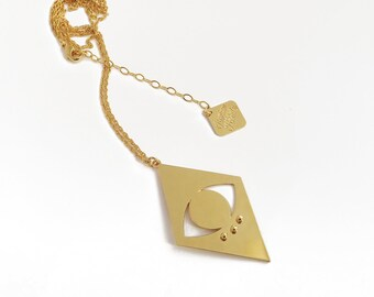 Supernova fine gold plated necklace